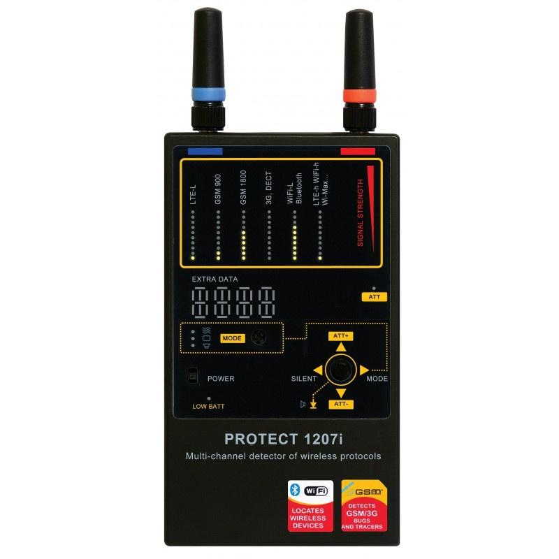 1207i Wi-Fi/GSM/3G/Bluetooth And GPS Tracker Detector - euspyshop
